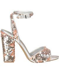 291d18362c1 Lyst - Steve Madden Claara Block-Heel Sandals in Brown