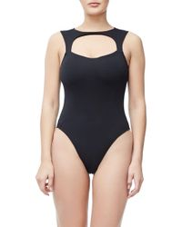 GOOD AMERICAN - Compression Cut Out Body - Lyst