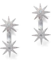 Colette - Double Plyxis Floater Star Earrings - Lyst