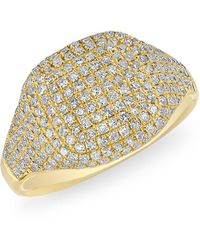 Anne Sisteron - Cushion Pinkie Ring - Lyst