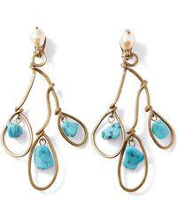 Marni - Three-tier Blue Resin Earring - Lyst
