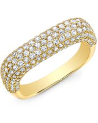 Anne Sisteron - Luxe Diamond Square Ring - Lyst