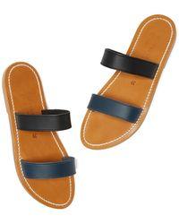 e53b8f26badd Lyst - K. Jacques Bagatel Two-strap Flat Sandals in Metallic