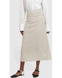 Rejina Pyo - Mina Polka-dot Crepe Skirt - Lyst