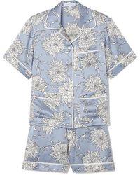 Olivia Von Halle - Millicent Silk Short-sleeve Pajama Set - Lyst