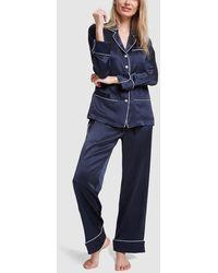 Olivia Von Halle - Coco Silk Long-sleeve Pyjama Set - Lyst