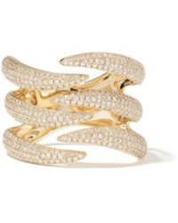 Anne Sisteron - Diamond Flame Yellow-gold Ring - Lyst