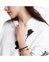 Sheryl Lowe - Onyx Bracelet With Pavé Diamond Bar - Lyst