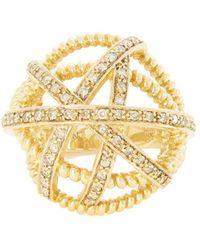Nancy Newberg - Diamond Ball Ring - Lyst
