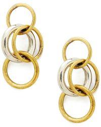 Soko Jewelry - Fania Triple Hoop Earrings - Lyst