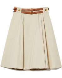 Tory Burch - Betsy Belted A-line Skirt - Lyst