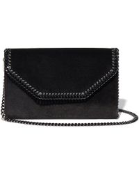 6658376ce690 Lyst - Stella McCartney Volcano Velvet Box Clutch in Black