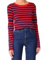 Rossella Jardini - Striped Crewneck Sweater - Lyst