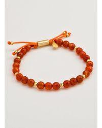 Gorjana & Griffin   Power Gemstone Orange Agate Beaded Bracelet For Confidence   Lyst