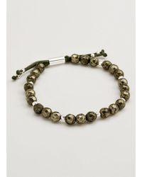 Gorjana & Griffin - Power Gemstone Pyrite Beaded Bracelet For Strength - Lyst