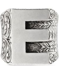 Gucci - E Letter Ring In Silver - Lyst