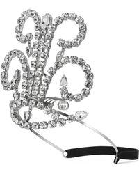 Gucci - Haarband aus Metall mit Kristallen - Lyst