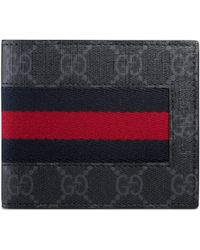 Gucci - Brieftasche aus GG Supreme mit Webstreifen - Lyst