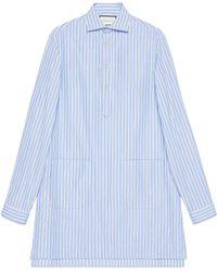 Gucci - Camisa Extragrande de Algodón con Bolsillos - Lyst
