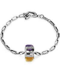 Gucci - Bracelet With Square G In Silver - Lyst