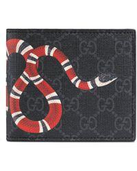 Gucci - Portefeuille avec porte-monnaie Suprême GG à imprimé Kingsnake - Lyst
