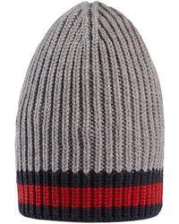 Gucci - Cappello in lana con dettaglio Web - Lyst 702f9df5b2b4