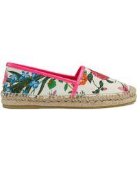 Gucci - Espadrilles en toile à imprimé Flora - Lyst 76b9a5e0737