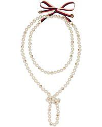 Gucci - Halskette mit Perlen - Lyst