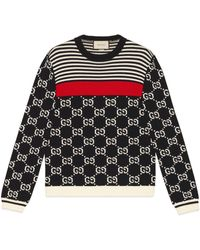 Gucci - GG And Stripes Knit Jumper - Lyst