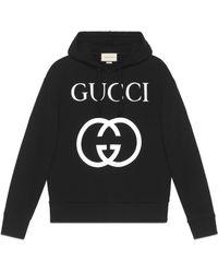 Gucci - Hooded Sweatshirt With Interlocking G - Lyst