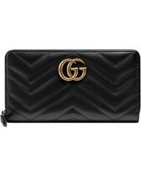 Gucci - GG Marmont Zip Around Wallet - Lyst