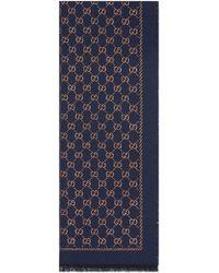 Gucci - Écharpe en laine à motif GG métallisé - Lyst