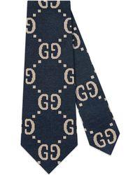 Gucci - Interlocking G Cotton Tie - Lyst