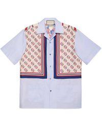 Gucci - Oxford Cotton And Silk Bowling Shirt