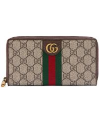 Gucci - Zip Around Wallet With Three Little Pigs - Lyst