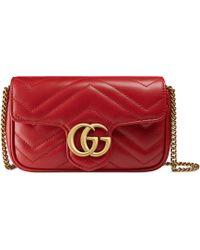 Gucci - Mini 'GG Marmont' Schultertasche - Lyst