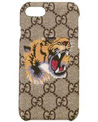 Gucci - Tiger Print Iphone 8 Case - Lyst