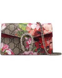 Gucci - Dionysus Super-Mini-Tasche aus GG Blooms - Lyst