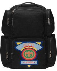 Gucci - Großer Rucksack mit Patch im 80er-Stil - Lyst
