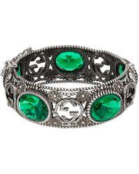Gucci - Silver Bracelet With Interlocking G - Lyst