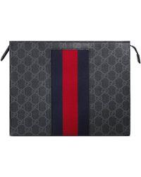 Gucci - Pouch in GG Supreme con Web - Lyst