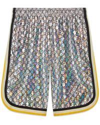 Gucci - Short en jersey laminé GG étincelant - Lyst
