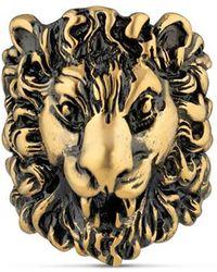 8f2c894e8 Gucci Swarovski Crystal Lion Ring in Metallic - Lyst