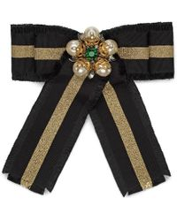 Gucci | Web Grosgrain Bow Brooch | Lyst