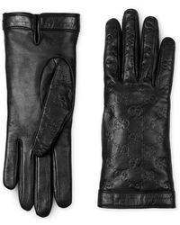 Gucci - Signature Leather Glove - Lyst