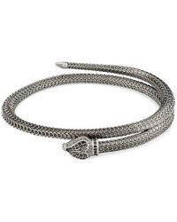 0eea54cde Gucci Woven Leather Bracelet with Knot Details in Black for Men - Lyst