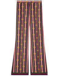 Gucci - Square Gg Belts Silk Pajama Pant - Lyst