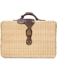 Gucci - Wicker Suitcase - Lyst