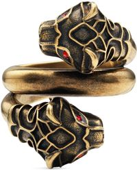 Gucci - - Tiger Head Ring - Lyst