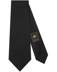 Gucci - Tiger Head Underknot Silk Wool Tie - Lyst